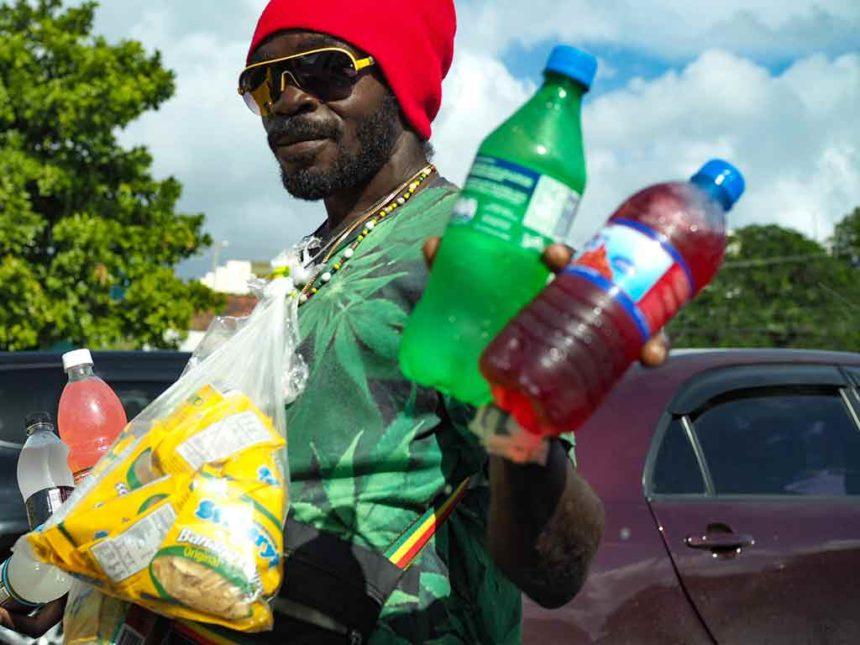 Les vendeurs de rue à la Jamaïque